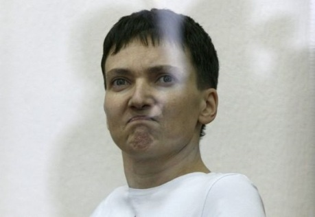 Nadia Savchenko, a Ukrainian pilot being held by Russia.