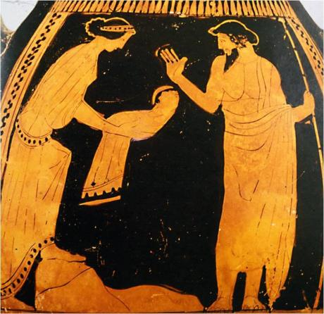 Cronus and Rhea, figures in one the central cosmogonic myths of classical antiquity.