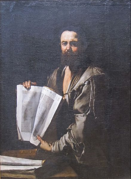 Euclid as imagined by Jusepe de Ribera -- Euclid was instrumental in the origins of formal thought, which began with geometry, and has since been applied to many disciplines but has not yet transformed historiography.