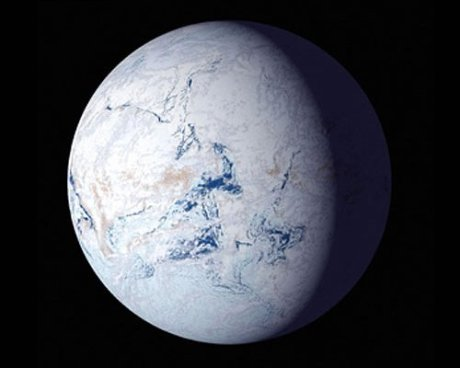 If some alien species had encountered Earth during one of its snowball periods, the planet would have resembled a biosphere with a single biome.
