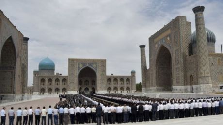 Islam Karimov received a grand send-off in Registan Square, a showpiece of Central Asia.