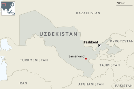 Uzbekistan is central to Central Asia.