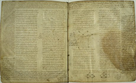 An early copy of Euclid's Elements, which axiomatically systematized geometry.