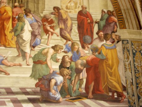 Geometry as represented by Raphael in The School of Athens.