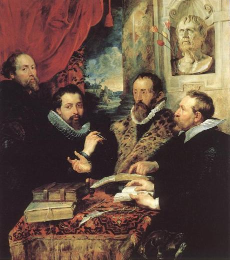 The Four Philosophers by Peter Paul Rubens -- presumably an eliminativist, a reductionist, an emergentist, and a supervenientist.
