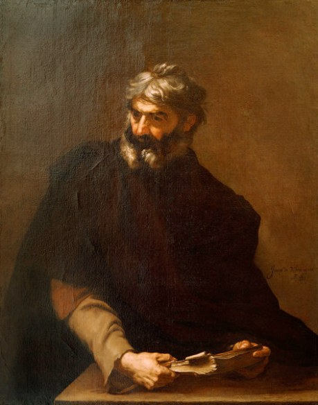 Ribera painted several imaginary portraits of ancient philosophers.